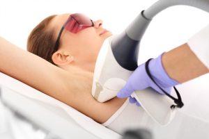 depilación laser en un centro de estética