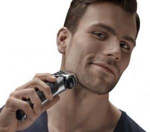 hombre usando Braun - Series 9
