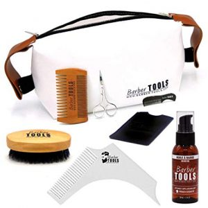 kit de limpieza para barba barber tools