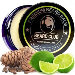 envase de bálsamo para la barba con limones