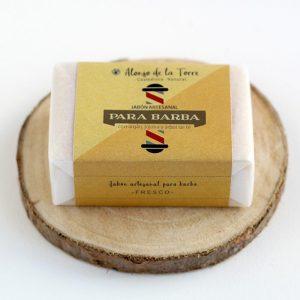 jabón para barba blanco