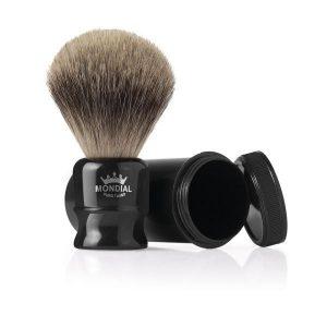 brocha de afeitar con estuche