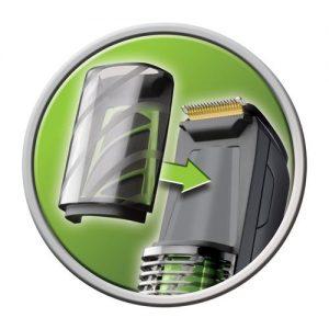 partes de una máquina de afeitar con aspiración de pelos
