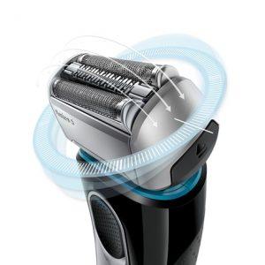 funcionamiento de una máquina de afeitar eléctrica