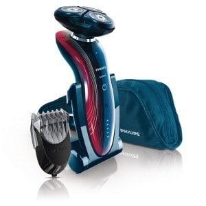 máquina de afeitar eléctrica azul