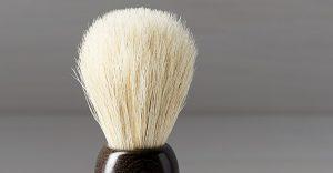 cerdas de una brocha de afeitar