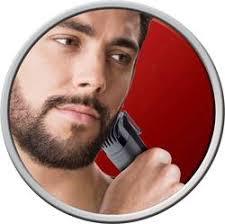 hombre joven usando una Recortadora de barba Remington