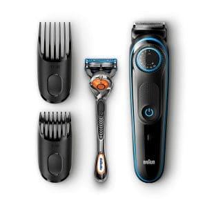 recortadora de barba braun negra