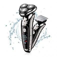 barbero y máquina de afeitar