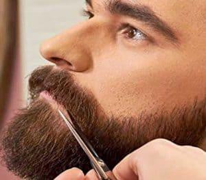 cortarse las tijeras con tijeras para barba