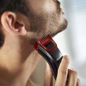 hombre con barbero Braun