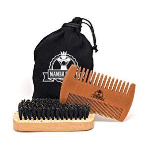 kit con peine y cepillo para la barba