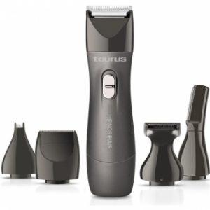 afeitadora corporal con sus accesorios