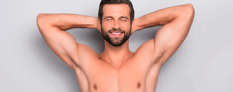 hombre bien depilado